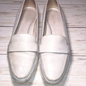 Calvin Klein White Leather Loafer